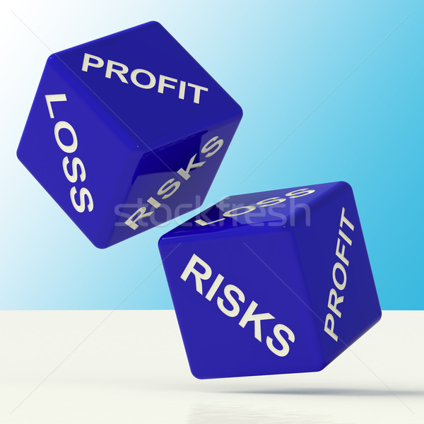 Profit Loss And Risks Dice Showing Market Risk Stock photo © stuartmiles