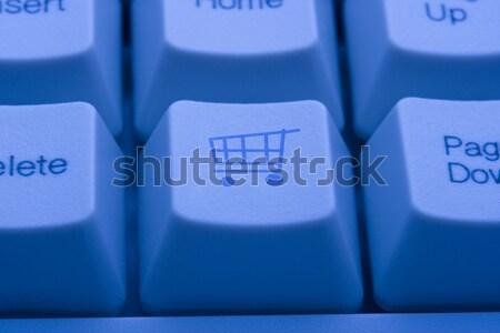 Internet Shopping Cart Payment Press Button Stock photo © stuartmiles