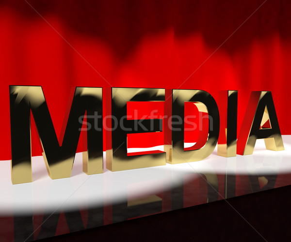Media Word On Stage Showing Advertising Outlets Or Broadcasting Stock photo © stuartmiles