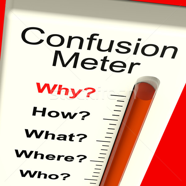 Confusion Meter Shows Indecision And Dilemma Stock photo © stuartmiles