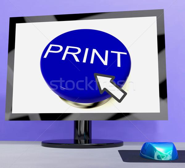 Print Button On Computer For Web Printout Stock photo © stuartmiles