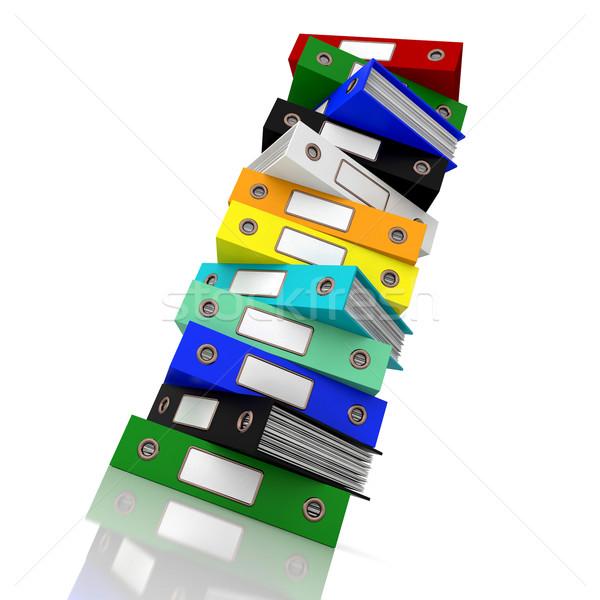 Fichiers bureau organisé papier dossier Photo stock © stuartmiles