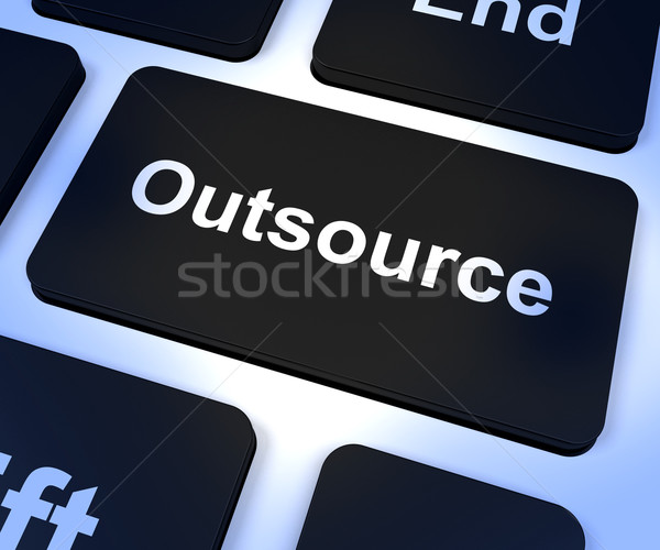 Outsource Key Showing Subcontracting And Freelance Stock photo © stuartmiles