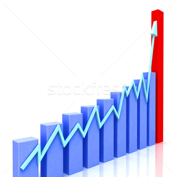 Graph at Angle Shows Budgeted Progress Against Actual Stock photo © stuartmiles