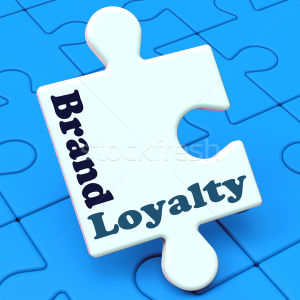 Brand Loyalty Shows Customer Confidence Preferred Brand name Stock photo © stuartmiles