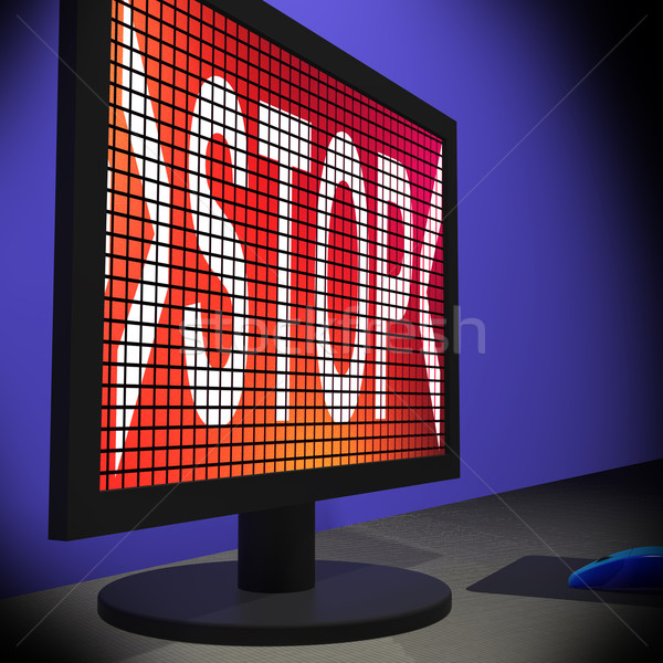 Stop On Monitor Showing Denying Stock photo © stuartmiles