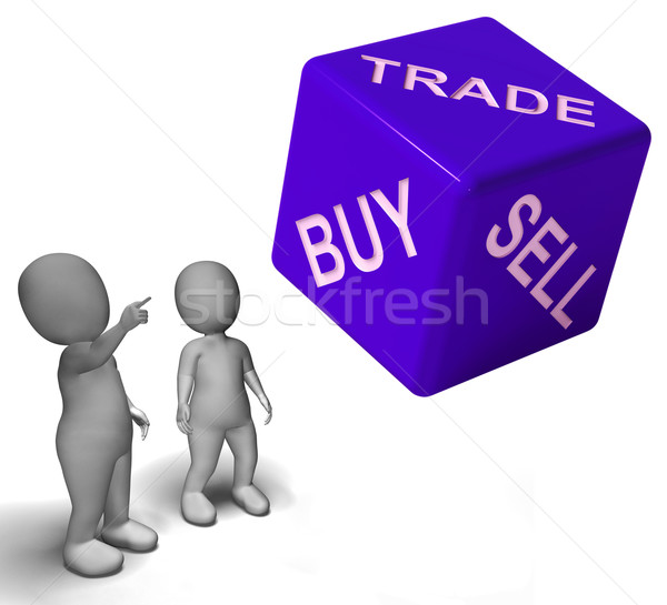 Buy Trade And Sell Dice Represents Business And Commerce Stock photo © stuartmiles