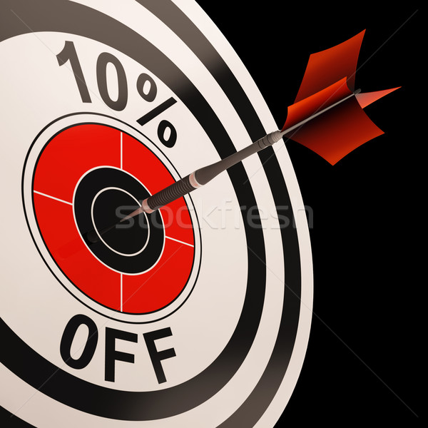 10 Percent Off Shows Percentage Reduction On Price Stock photo © stuartmiles