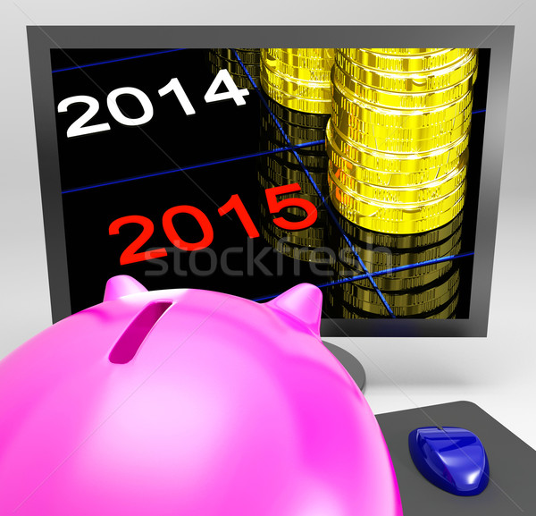 Coin Stacks Shows Financial Budgeted Profits Stock photo © stuartmiles