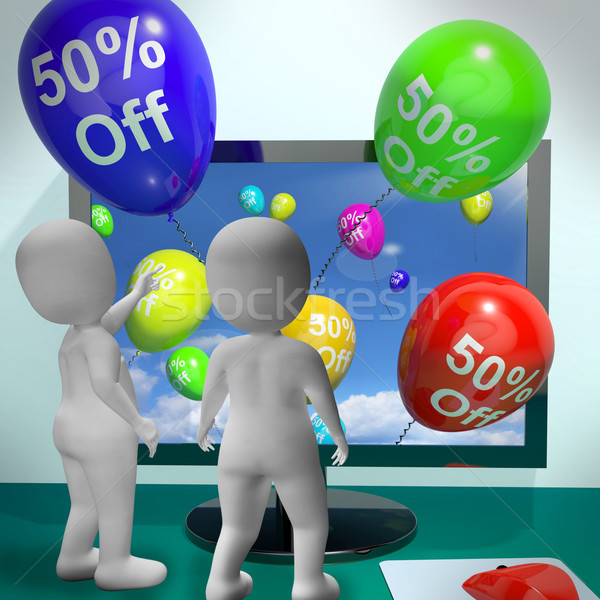 Ballons ordinateur vente réduction quarante Photo stock © stuartmiles