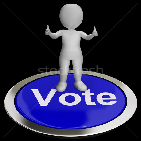 голосования кнопки опции голосование выбора Сток-фото © stuartmiles