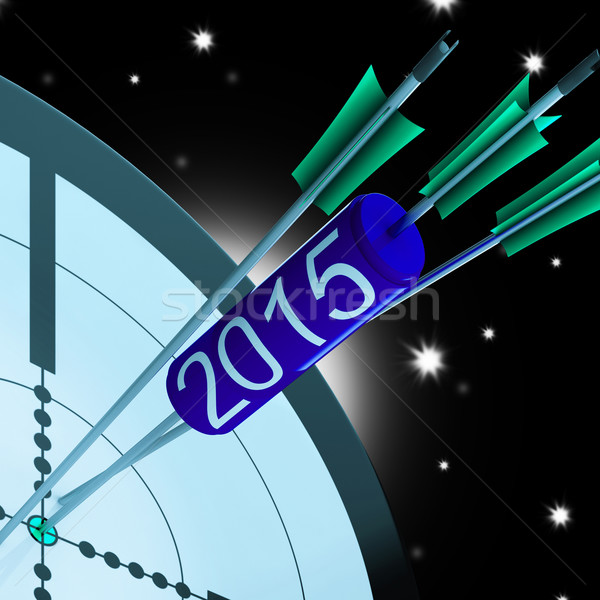 2015 Accurate Dart Target Shows Successful Future Stock photo © stuartmiles