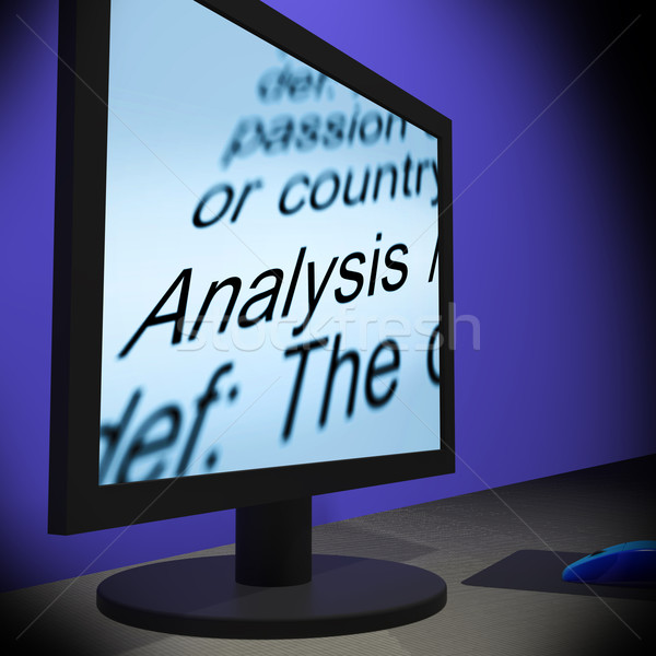 анализ контроля экране проверить Сток-фото © stuartmiles