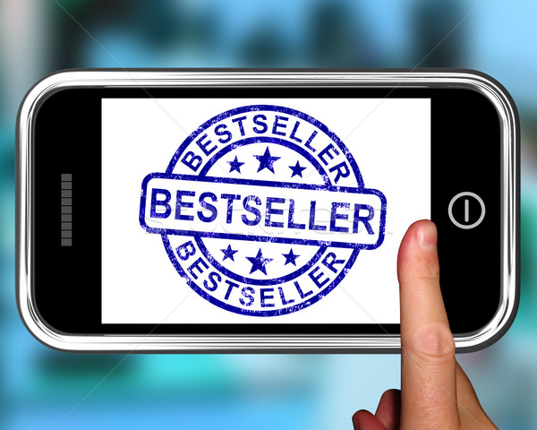 Bestseller On Smartphone Shows First Rated Book Stock photo © stuartmiles