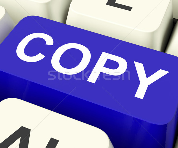 Copy Keys Mean Duplicate Copying Or Replicate