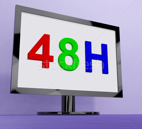 Forty Eight Hour On Monitor Shows 48h Service Stock photo © stuartmiles