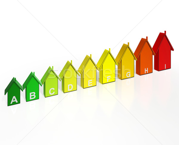 Energy Efficiency Rating Houses Show Eco Buildings Stock photo © stuartmiles