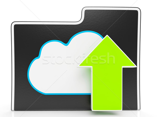 Upload Arrow And Cloud File Shows Uploading Stock photo © stuartmiles