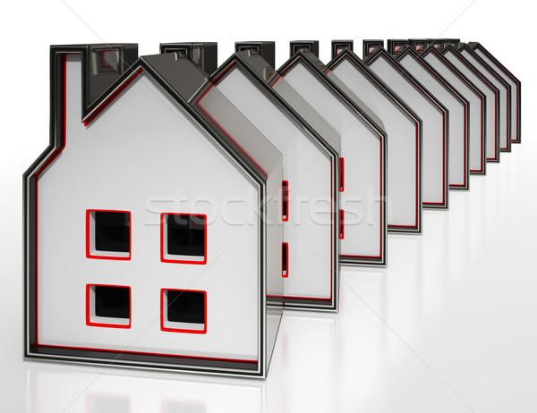 House Symbols Display Houses For Sale Stock photo © stuartmiles