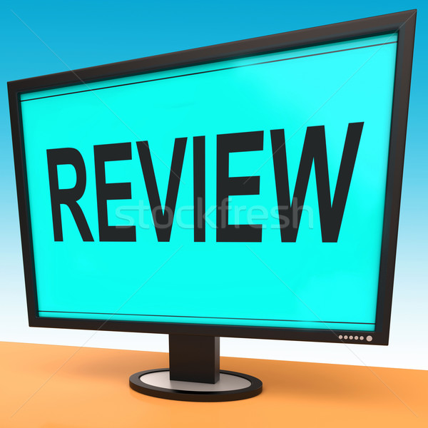 Review Screen Means Check Reviewing Or Reassess  Stock photo © stuartmiles