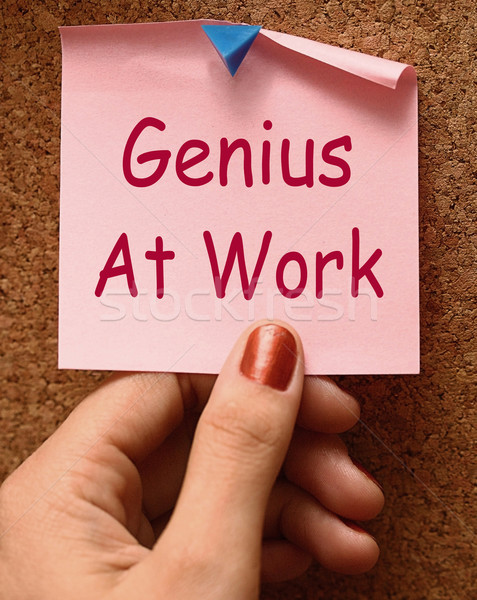 Genius At Work Means Do Not Disturb Stock photo © stuartmiles