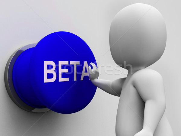 Beta knop software tonen web Stockfoto © stuartmiles
