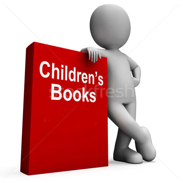 Children's Book And Character  Shows Reading For Kids Stock photo © stuartmiles