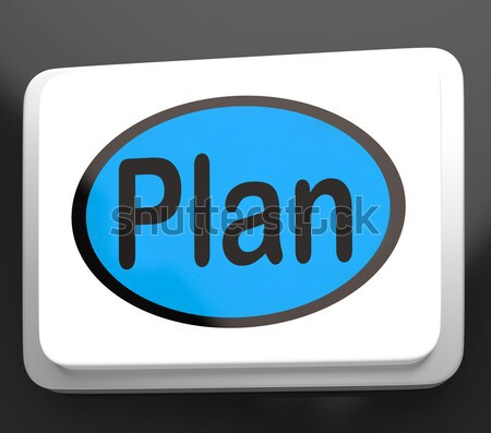 Plans bouton objectifs planification Photo stock © stuartmiles