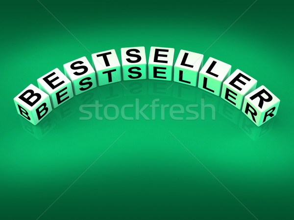 Bestseller dados mostrar popular quente item Foto stock © stuartmiles