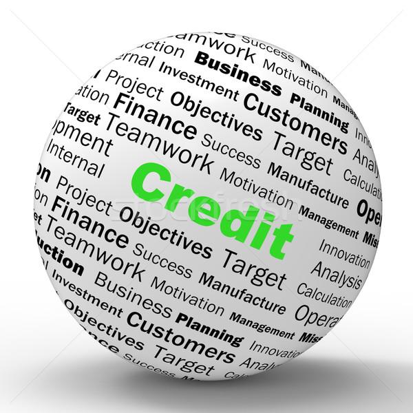 Credito sfera definizione finanziaria soldi Foto d'archivio © stuartmiles