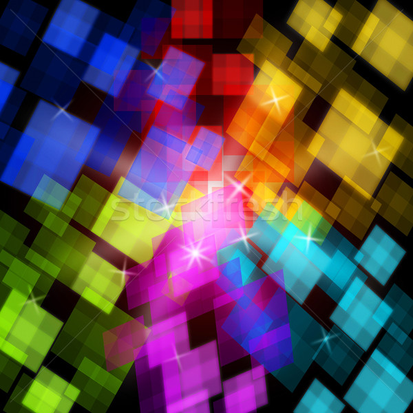 Colourful Cubes Background Shows Digital Art Or Design Stock photo © stuartmiles