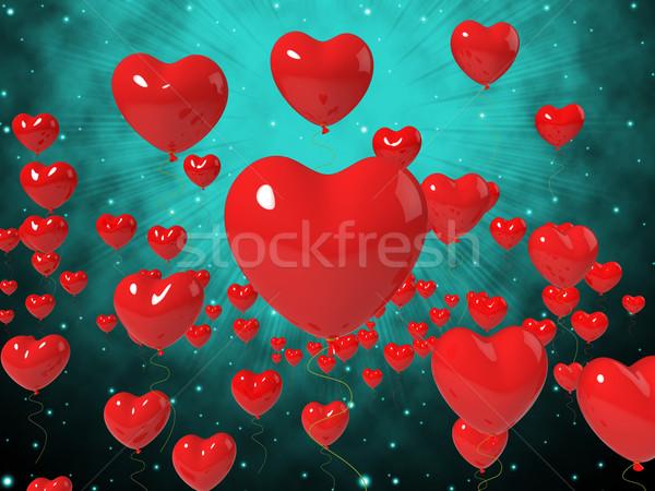сердце шаров высокий любви страстный Сток-фото © stuartmiles