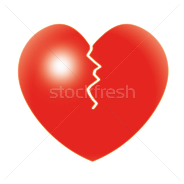 Broken Heart Shows Relationship Troubles And Separation Stock photo © stuartmiles