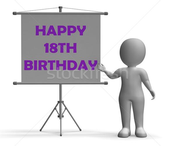 Mutlu doğum günü tahta kutlama özel gün Stok fotoğraf © stuartmiles