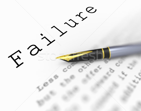 Failure Word Shows Unsuccessful Deficient Or Underachieving Stock photo © stuartmiles