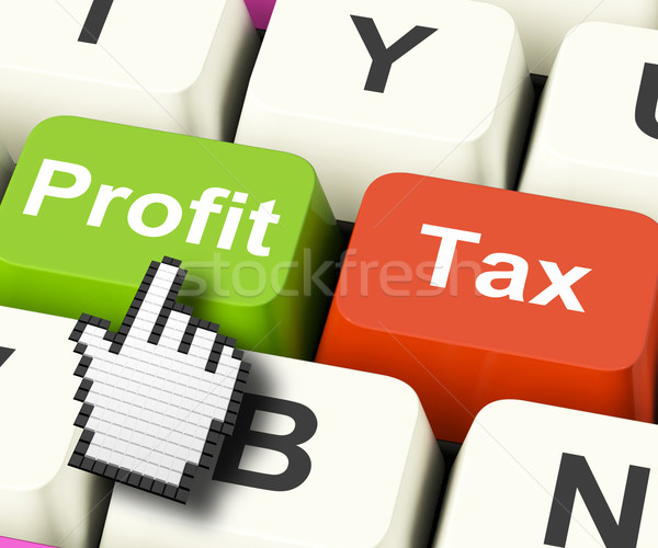 Profit Tax Computer Keys Show Paying Company Taxes Stock photo © stuartmiles