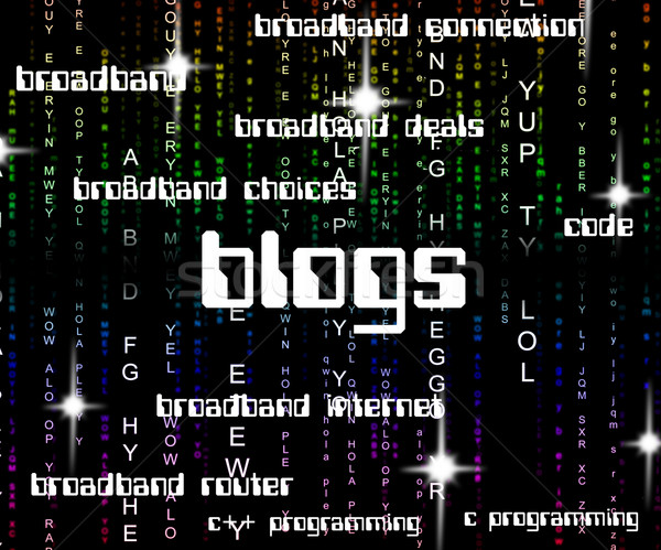 Blogs Word Indicates Online Websites And Blogger Stock photo © stuartmiles