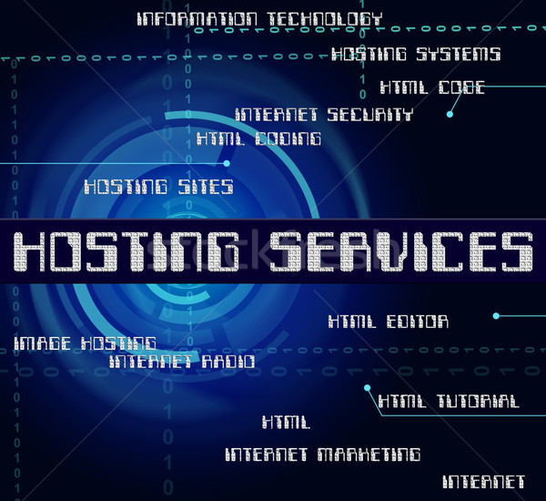 Hosting usług internetowych słowa wsparcie pomoc Zdjęcia stock © stuartmiles