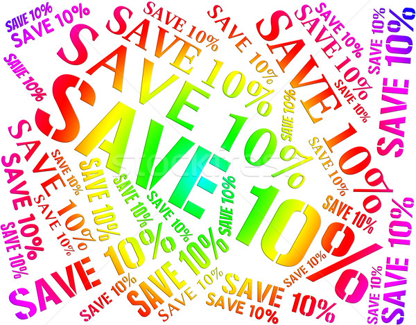 Ten Percent Off Represents Bargains Closeout And Cheap Stock photo © stuartmiles