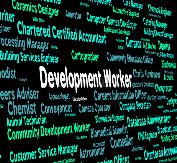 Development Worker Means Blue Collar And Career Stock photo © stuartmiles