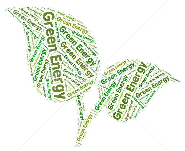 Groene energie zonne elektriciteit betekenis aarde vriendelijk Stockfoto © stuartmiles