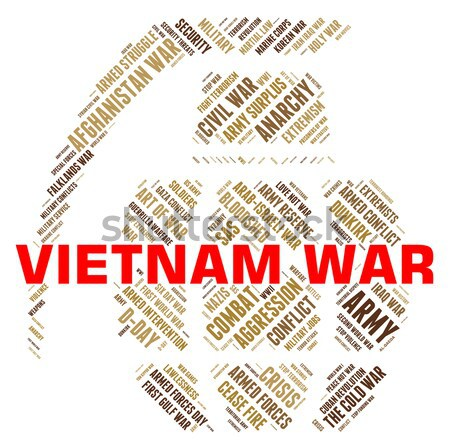 Vietnã guerra chamar e exército significado Foto stock © stuartmiles