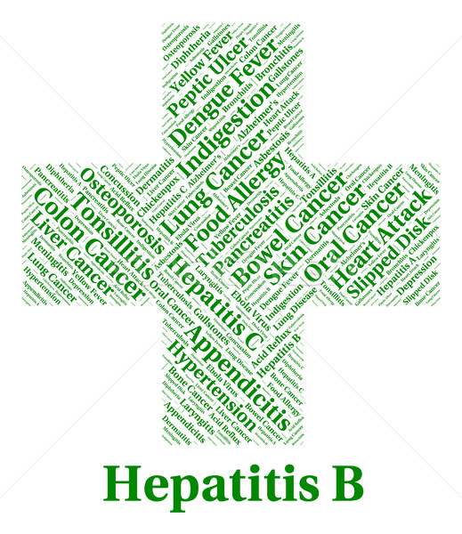 Hepatitis B Shows Ill Health And Afflictions Stock photo © stuartmiles