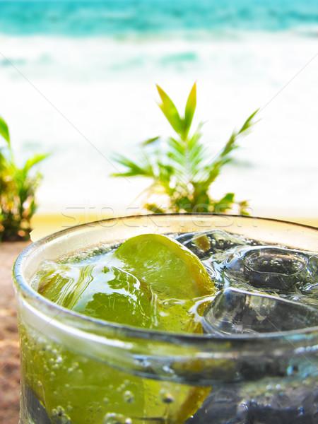 Refreshing lemon Soda With Ice Stock photo © stuartmiles