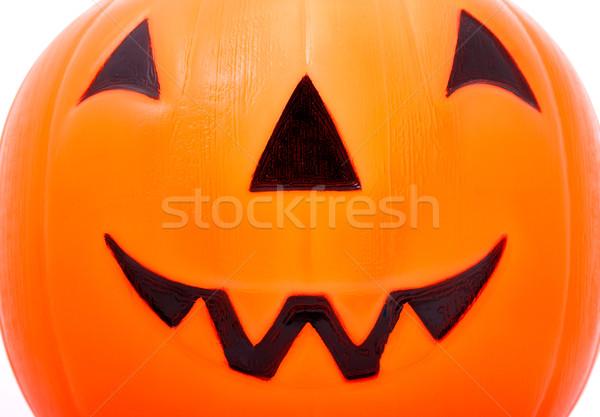 Cadılar bayramı kabak hile turuncu komik gülme Stok fotoğraf © stuartmiles