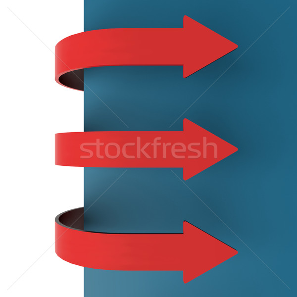 Three Red Arrow Tabs Over Paper For Menu List Or Notes Stock photo © stuartmiles