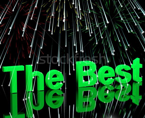 Meilleur mots feux d'artifice haut qualité Photo stock © stuartmiles