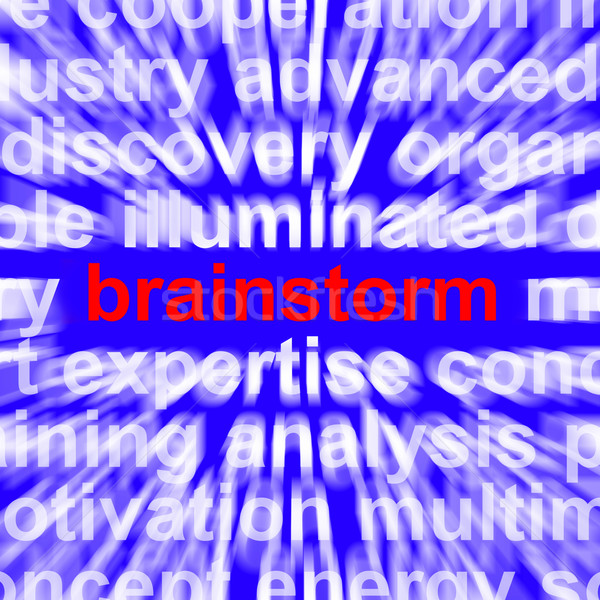 Brainstorming Word Meaning Creative Thinking And New Ideas Stock photo © stuartmiles