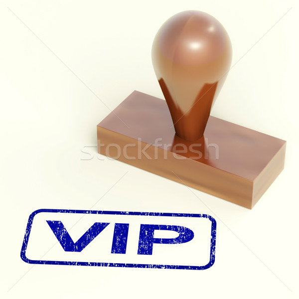 VIP Stamp Shows Celebrity Or Millionaire Stock photo © stuartmiles