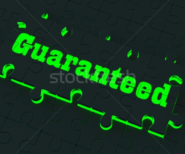 гарантированный головоломки зафиксировано цены Сток-фото © stuartmiles
